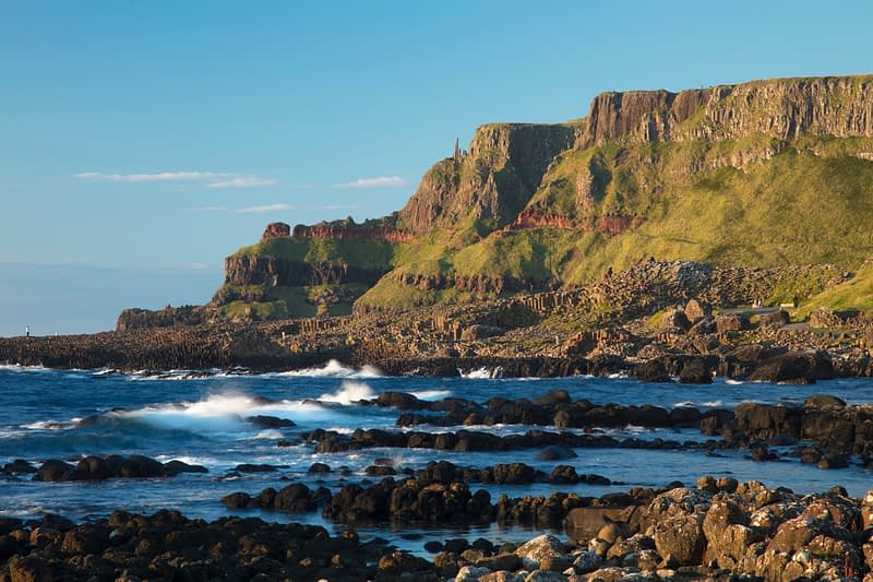 Lacada Point from the Giant's Causeway, Country Antrim, Northern Ireland.