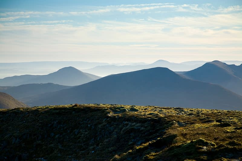 Looking south from the summit of Slieve Carr, Nephin Beg Mountains, Co Mayo, Ireland.
