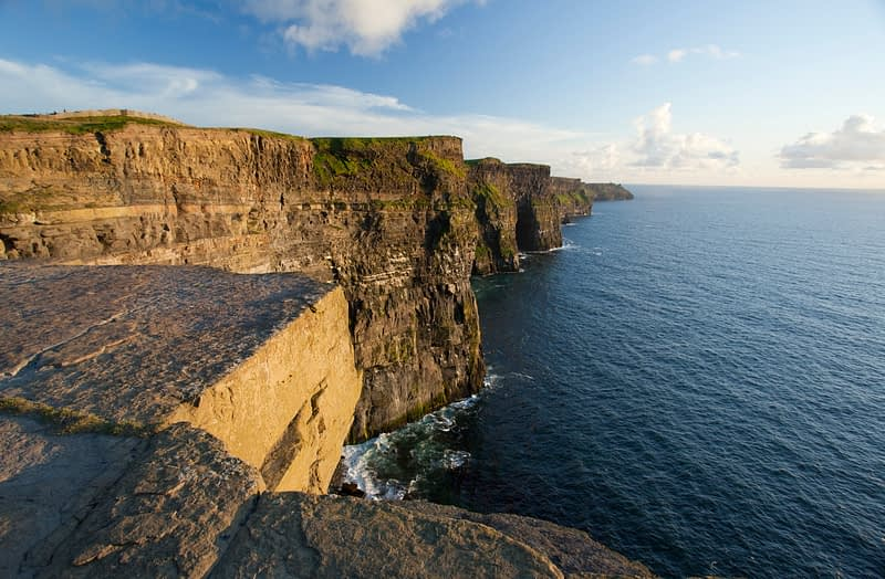 Evening light on the Cliffs of Moher, Co Clare, Ireland.